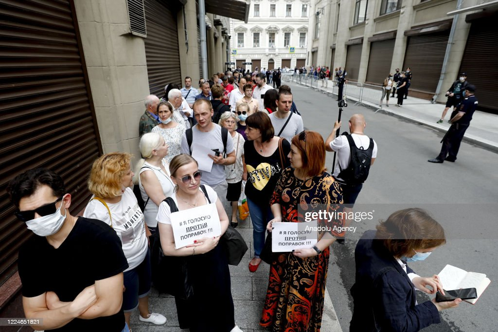 Protest against constitutional reforms in Russia : News Photo