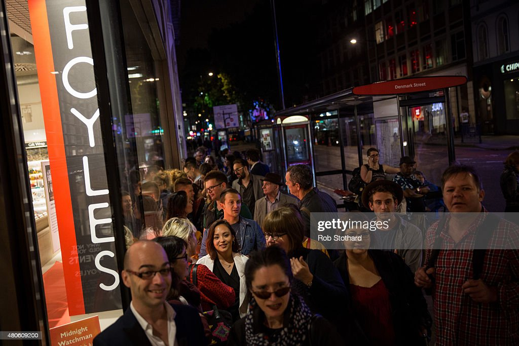 People wait outside Foyles book store to buy 'Go Set A Watchman' by Harper Lee which goes on sale shortly after midnight on July 13, 2015 in London, England. Go Set a Watchman was written in the mid-1950s before Lee's Pulitzer Prize winning novel To Kill a Mockingbird, which was published in 1960. The original manuscript was then lost for nearly half a century years, discovered by Harper Lee's lawyer in late 2014. The novel goes on sale on July 14. The Go Set a Watchman