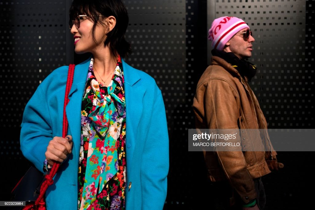 TOPSHOT-FASHION-ITALY-GUCCI-STREET-FEATURE : News Photo