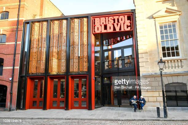 People wait outside the newly renovated Bristol Old Vic theatre in Bristol, where the oldest continuously working theatre in the English speaking...