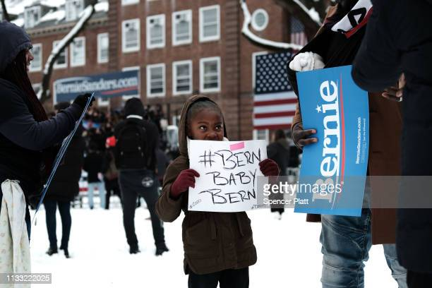 People wait to hear US Sen Bernie Sanders at a rally at Brooklyn College on March 02 2019 in the Brooklyn borough of New York City Sanders a staunch...