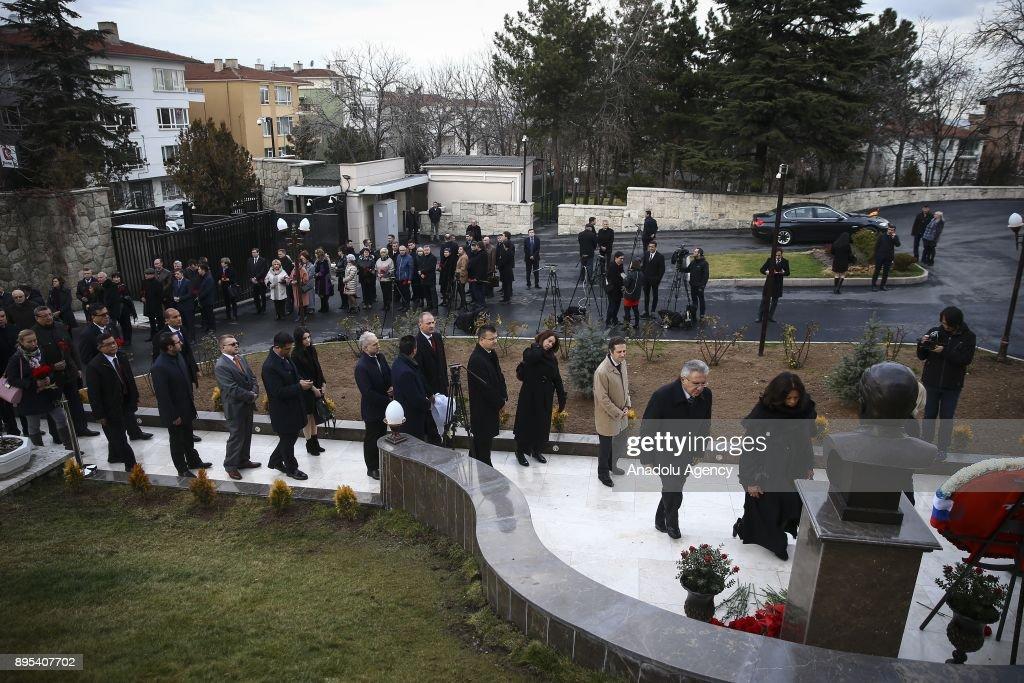 Commemoration ceremony of Andrey Karlov in Ankara : News Photo