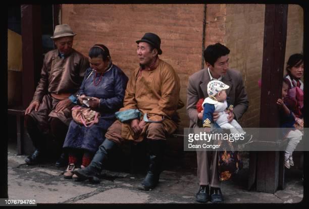 People Waiting at Gandan Monastery Mongolian