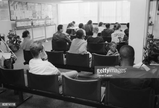 People waiting at the Department of Social Security Office in South Norwood London 16th September 1992