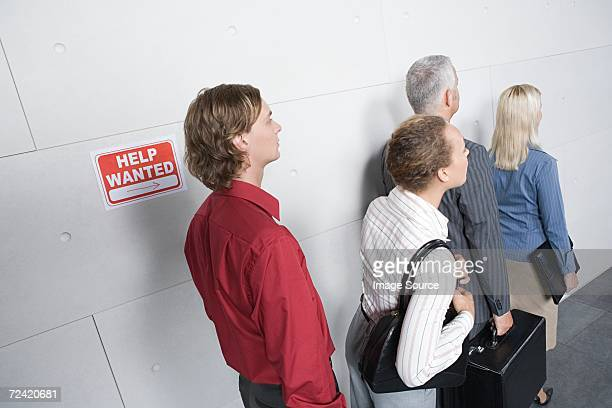 People waiting for an interview