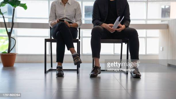 people waiting for job interview - businesswear stock pictures, royalty-free photos & images