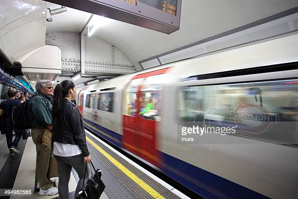 People waiting for the Piccadilly line