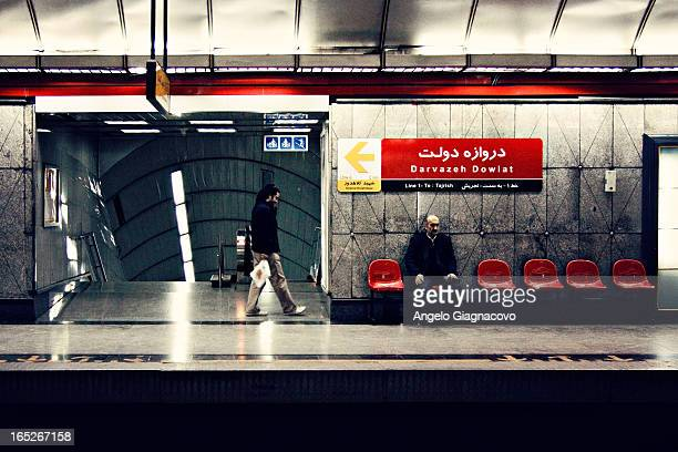 CONTENT] People waiting for the train in the Teheran subway in Iran