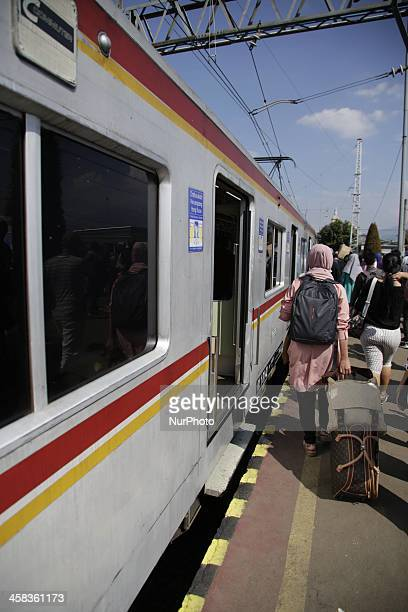 People waiting for Train at Bogor Train Station in Jakarata Indonesia on July 2 2016 As ramadan near to end people return to their original place to...