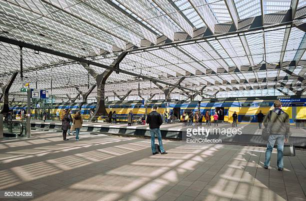 People waiting for train at Rotterdam CS