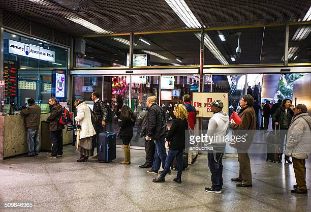 people waiting in line to buy lottery ticket, madrid - lottery ticket stock pictures, royalty-free photos & images