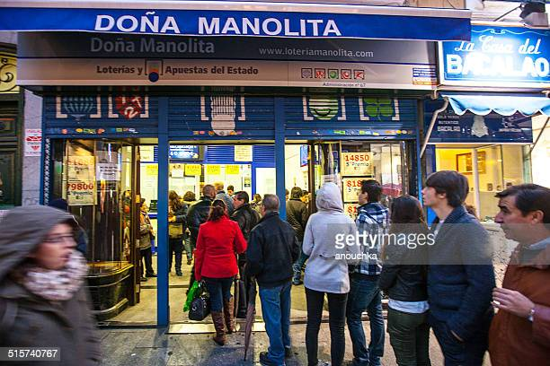 People waiting in line to buy Lottery Tickets, Madrid