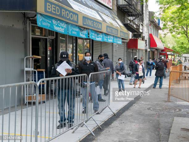 People waiting in line to take antibody test for COVID19 at SOMOS Community Care in Washington Heights Latino community SOMOS and Governor Cuomo...