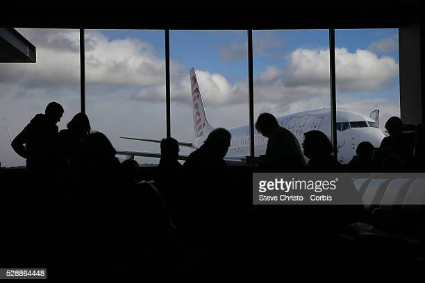People waiting their Virgin Air flight at Coolangatta Airport Queensland on Sunday 19th of July 2015 Sydney Australia