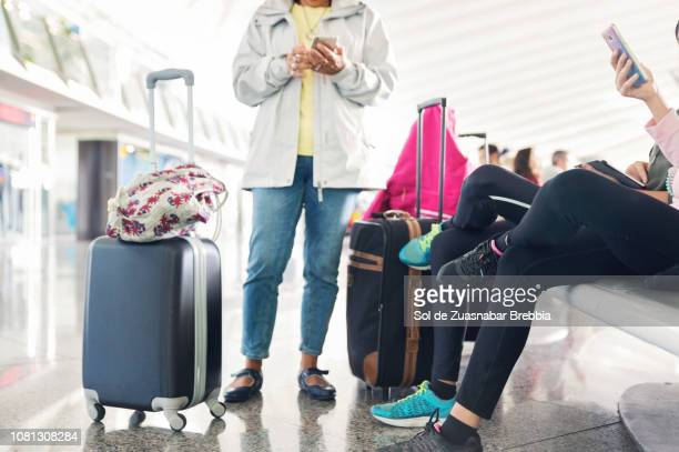 People waitting in an airport