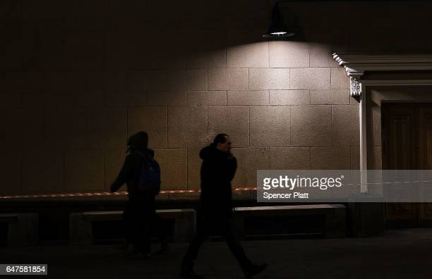 People walk along a shopping street on March 3 2017 in Moscow Russia Relations between the United States and Russia are at their lowest point in...