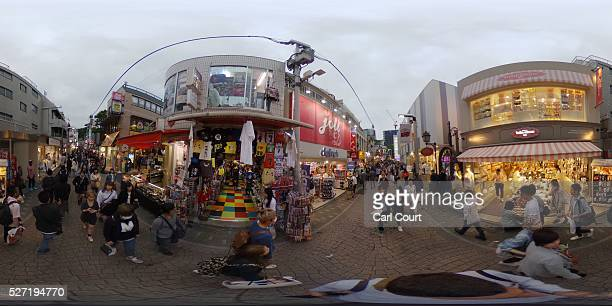 People walk along a shopping street on May 02 2016 in the Harajuku area of Tokyo Japan The Greater Tokyo Area is the most populous metropolitan area...