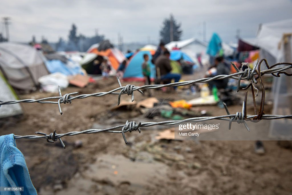 Migrants Trapped On The Greek Border Await The Outcome Of EU Summit : News Photo