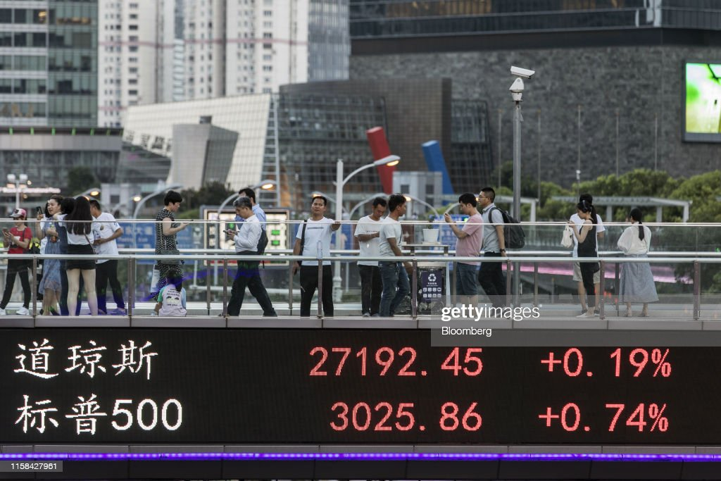 Daily Life In Shanghai As Trade Talks Resume In China's Most Populous City : News Photo