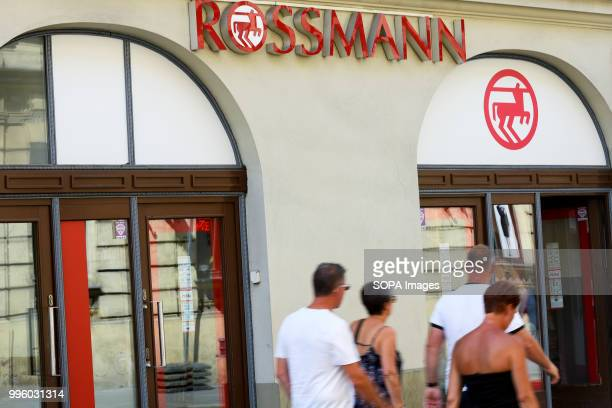 People walk by Rossmann store in Krakow Krakow is the second largest city in Poland and it is located in the southern part of the country