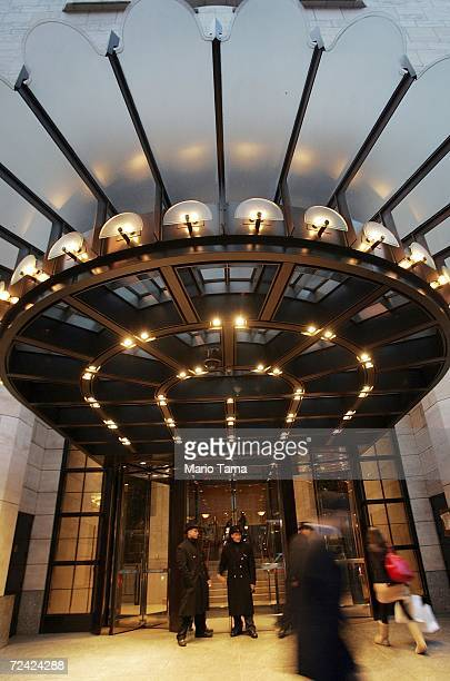 People walk by the Four Seasons Hotel on November 6, 2006 in New York City. The hotel chain has received a $3.7 billion buyout offer from a group...