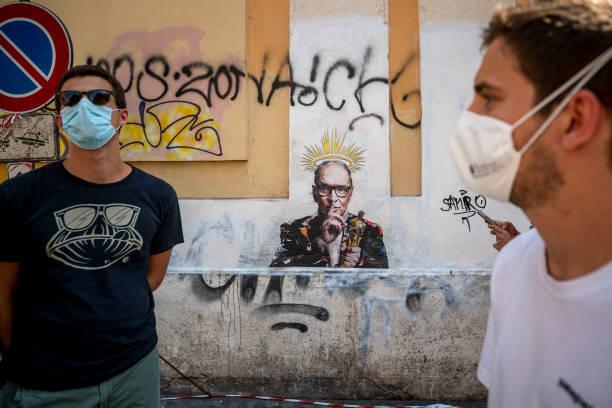 ITA: Ennio Morricone Tribute Graffiti In Rome