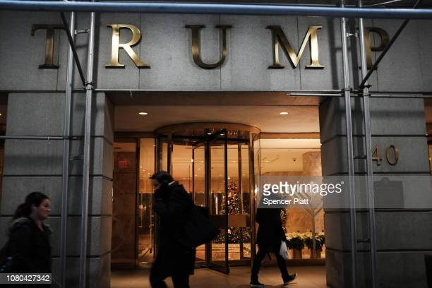 People walk by Trump Tower in midtown Manhattan on December 10, 2018 in New York City. President Trump's 2016 presidential campaign has come under...