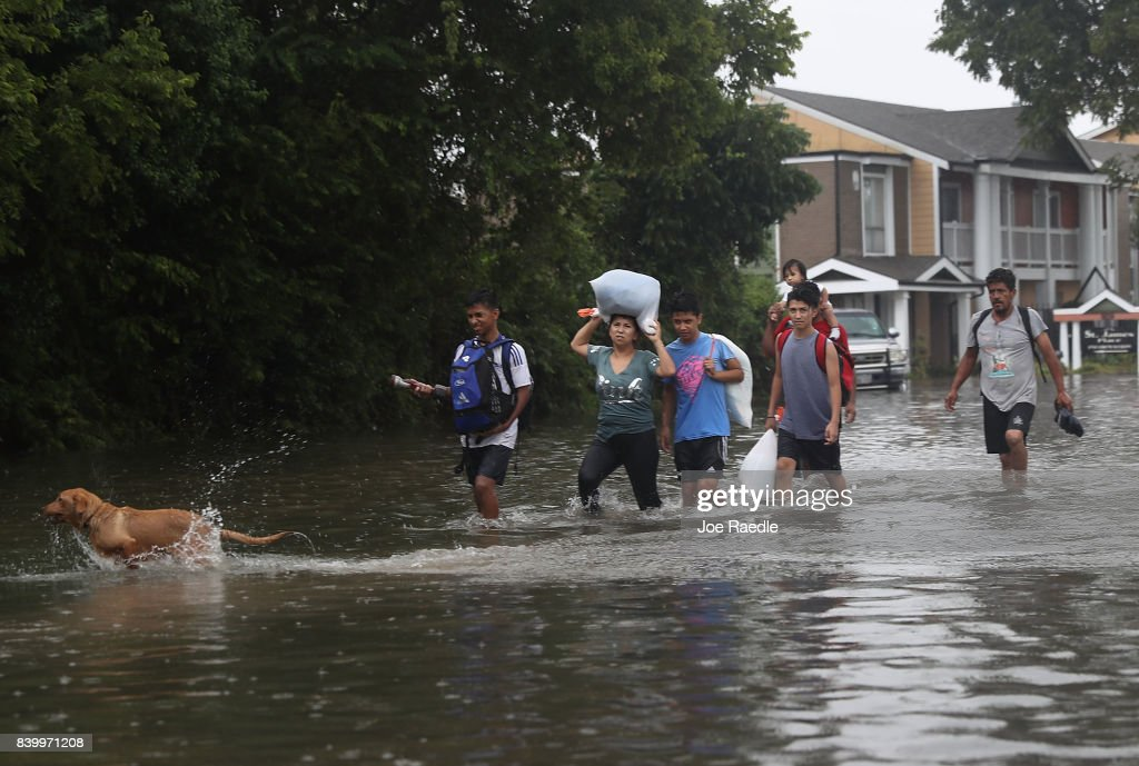 Hurricane Harvey Slams Into Texas Gulf Coast : News Photo
