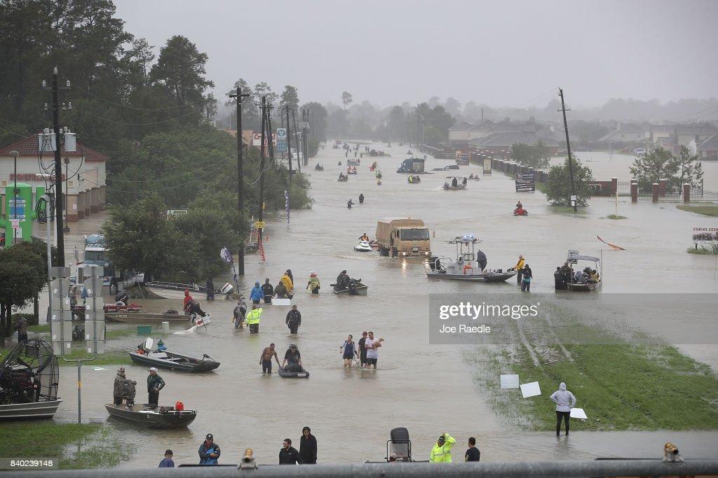 Epic Flooding Inundates Houston After Hurricane Harvey : News Photo