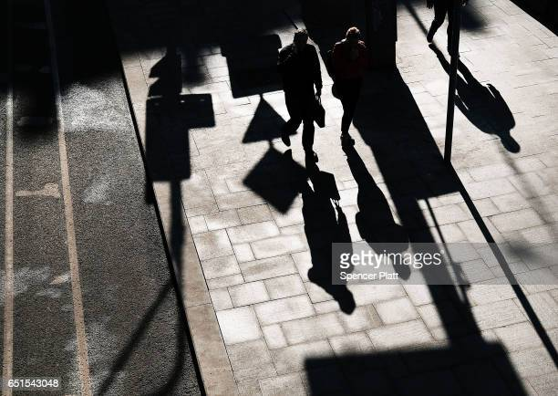People walk down a street in central Moscow on March 10 2017 in Moscow Russia Relations between the United States and Russia are at their lowest...