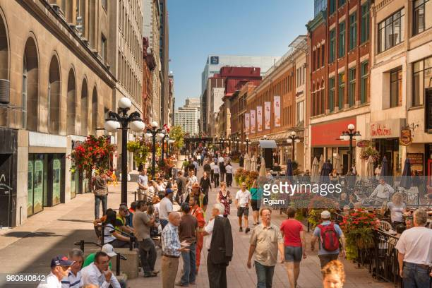 people walk in downtown ottawa ontario canada - ottawa stock pictures, royalty-free photos & images
