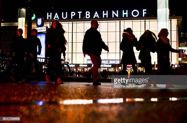 People walk in front of Hauptbahnhof main railway station in Cologne on January 9 2016 in Cologne Germany Over 100 women have filed charges of sexual...