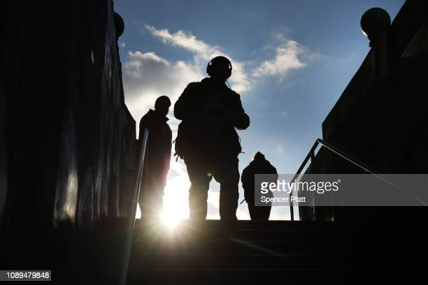 People walk into an L train station in the popular Brooklyn neighborhood of Williamsburg on January 03 2019 in New York City In a relief to L train...