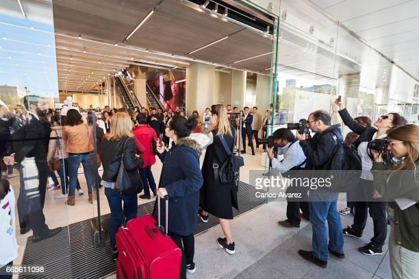 People walk into the new Zara store on April 07 2017 in Madrid Spain The store is the biggest Zara store in the world measuring 6000 square meters
