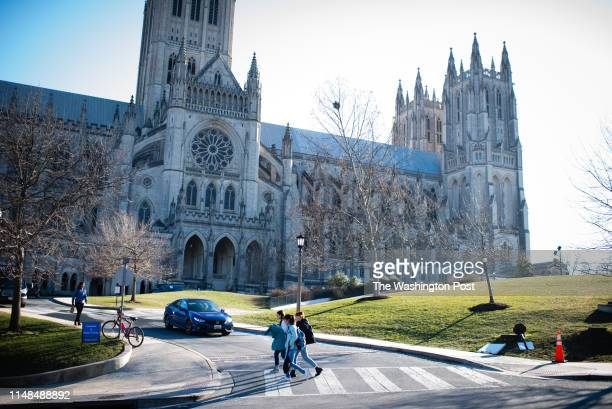 People walk near Washington National Cathedral Massachusetts Avenue Heights is a neighborhood in DC that is bounded to the north by Woodley Road to...