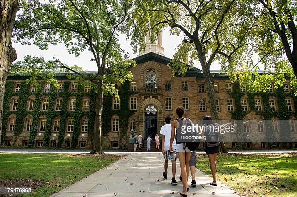 People walk on the Princeton University campus in Princeton New Jersey US on Friday Aug 30 2013 Residents in Princeton New Jersey have sued the...