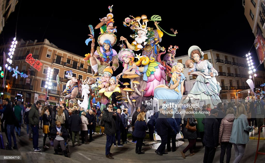Las Fallas In Valencia 2018 -  Sculptures Setting Up
