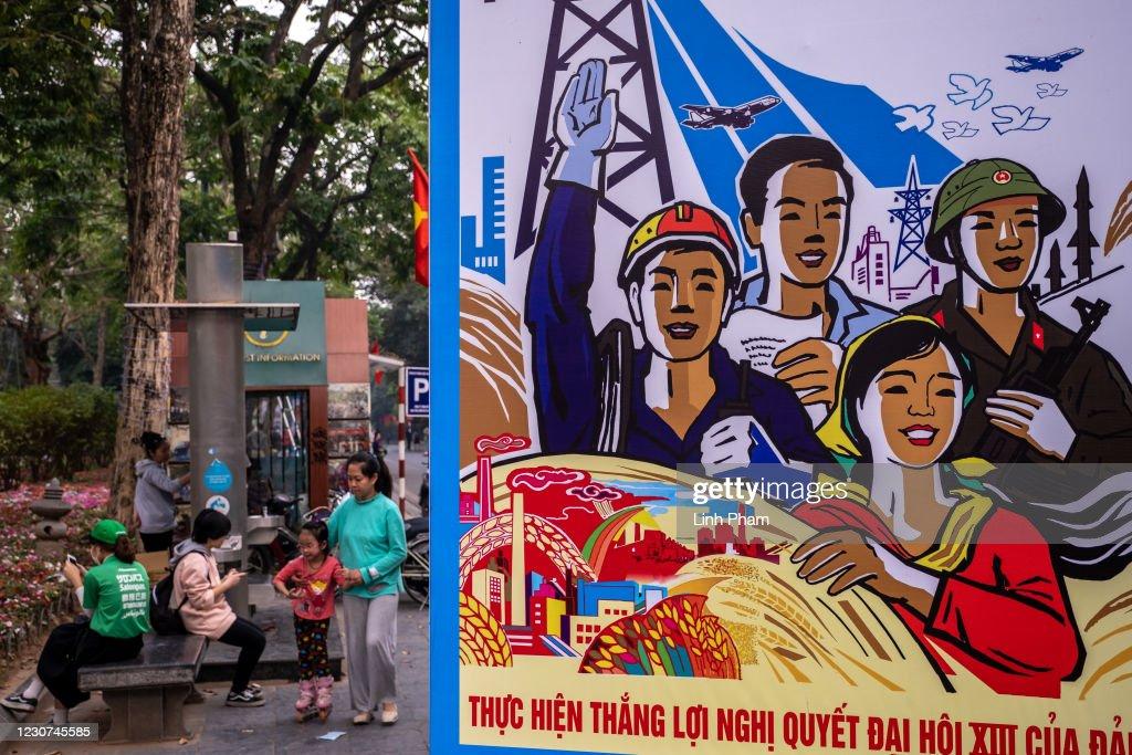 Preparations For Vietnam's Communist Party Congress : News Photo
