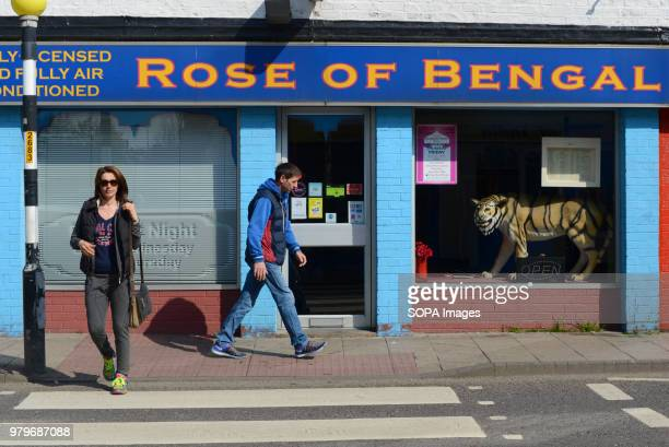 People walk past an Indian restaurant in the town centre of Boston Lincolnshire The Lincolnshire town recorded the highest leave vote in the 2016...