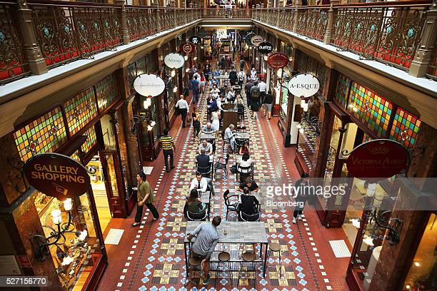 People walk past stores at Strand Arcade in Sydney Australia on Friday April 29 2016 Australias drive to balance the books will see the federal...