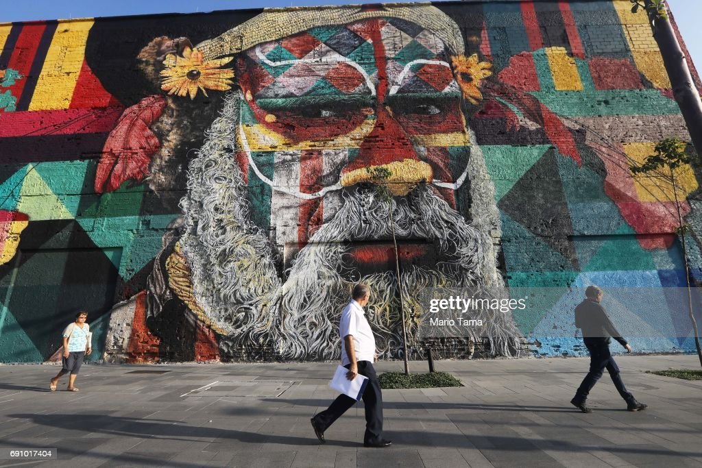 Street Art Abounds In Rio De Janeiro's Port District : News Photo