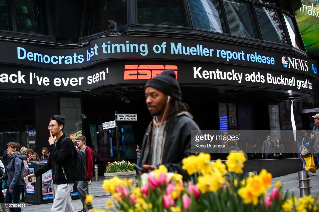 NY: The Public Reacts To The Release Of The Mueller Report