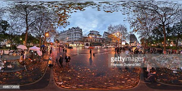 People walk past the Bataclan on November 19, 2015 in Paris, France. Following the terrorist attacks in Paris last week, which claimed 130 lives and...