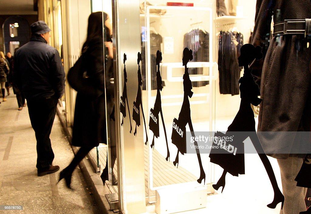 Winter Sales In Milan : News Photo