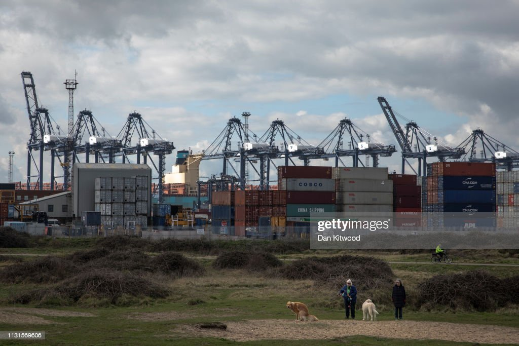 GBR: General Views Of The Container Terminal At Felixtowe Port