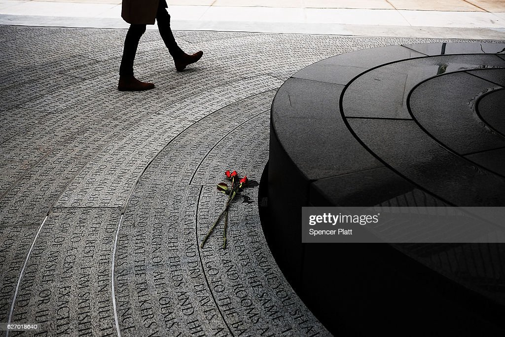 New AIDS Memorial In NYC Draws Visitors On World AIDS Day : News Photo