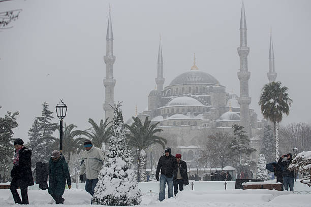 Istanbul Covered In Snow After Hit With Severe Snow Storm