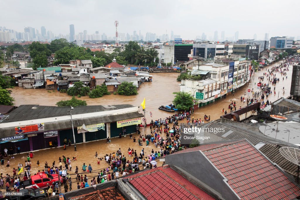 Jakarta Left Submerged As Heavy Rain Batters The City : News Photo