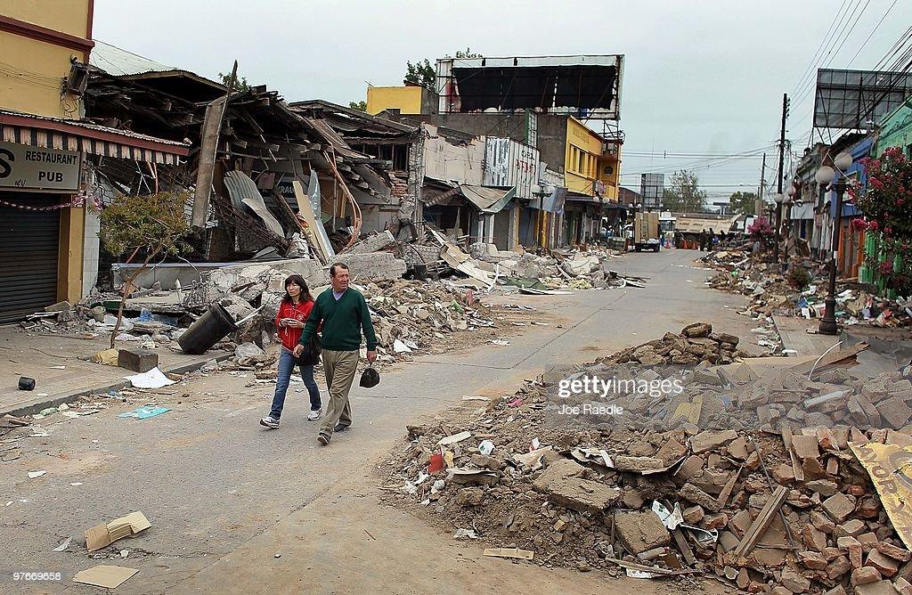 Chile Faces Major Destruction After Massive 8.8 Earthquake : News Photo