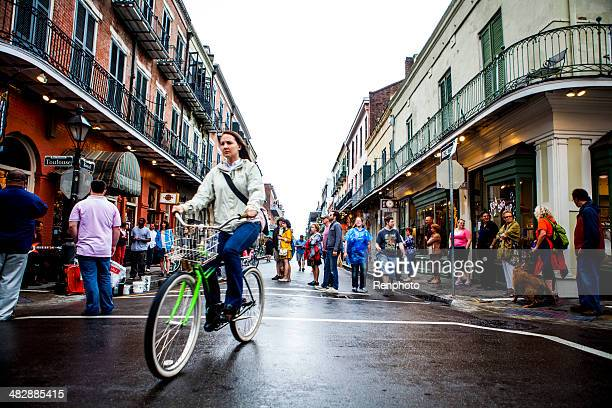 People Walking Around in the French Quarter